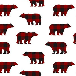 Buffalo Plaid Bears // Medium