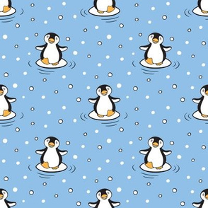 Cute Happy Dancing Penguins