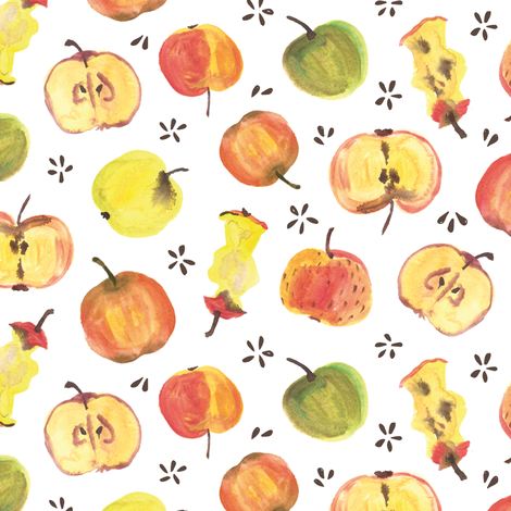Yummy apples  fabric by revista on Spoonflower - custom fabric