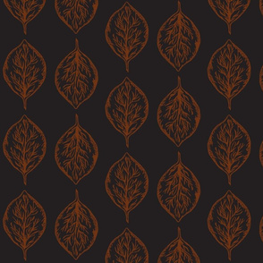 Oval Leaves in Black