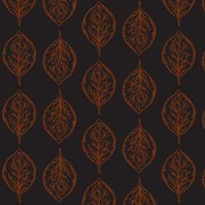Oval Leaves in Black