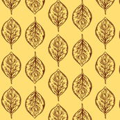 Oval Leaves in Yellow