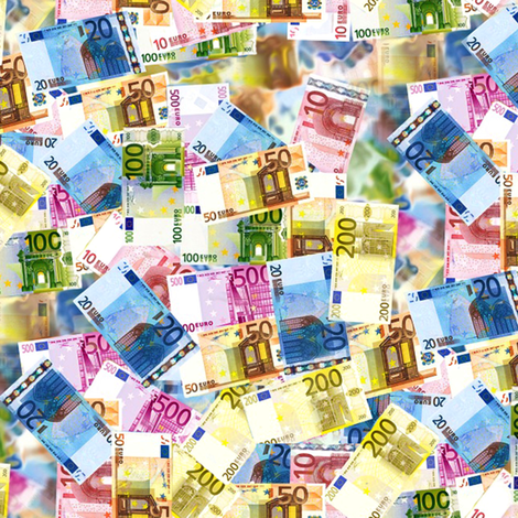 euro bills - euro banknoten fabric by stofftoy on Spoonflower - custom fabric