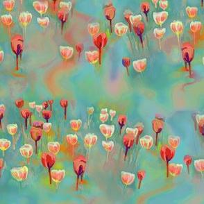 Tulip field - teal