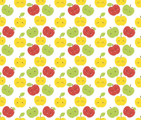 apples fabric by gnoppoletta on Spoonflower - custom fabric