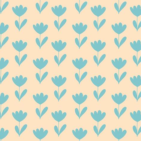 Prairie Autumn Sky Tulips on #ffe4c4 fabric by anniedeb on Spoonflower - custom fabric
