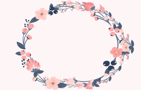 Blue and pink floral wreath fabric hudsondesigncompany spoonflower blue and pink floral wreath fabric by hudsondesigncompany on spoonflower custom fabric mightylinksfo