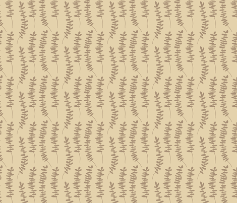 leafy stems brown branch ground cover design fabric by deniseanne on Spoonflower - custom fabric