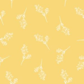 woodland yellow berries soft floral design