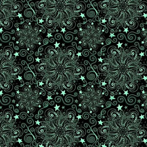 Project 47   Chalkboard Sky   Mint Stars fabric by bohobear on Spoonflower - custom fabric