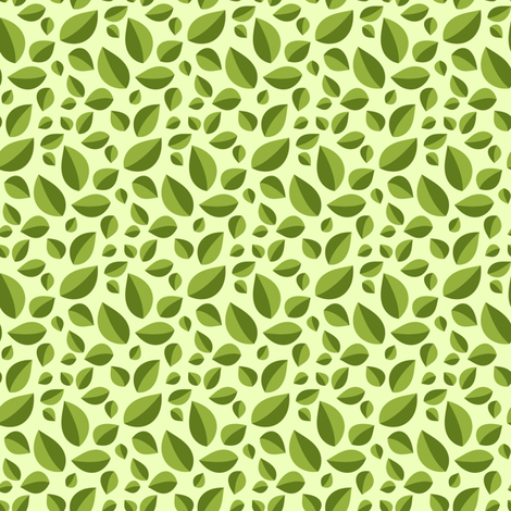 Best Tea Friends - Tea Leaves on Light Green fabric by robinskarbek on Spoonflower - custom fabric