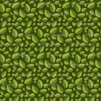 Best Tea Friends - Tea Leaves on Dark Green