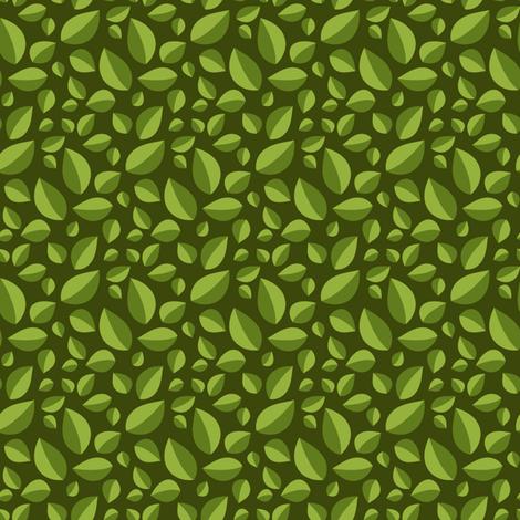 Best Tea Friends - Tea Leaves on Dark Green fabric by robinskarbek on Spoonflower - custom fabric