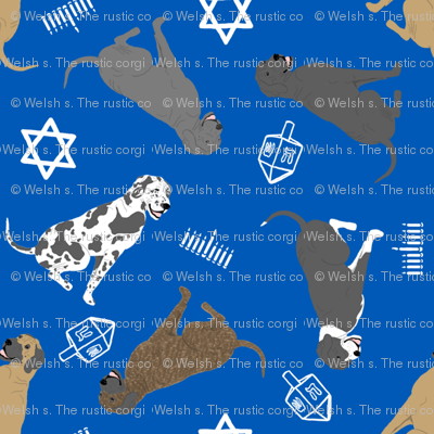 Tiny Great Danes - Hanukkah