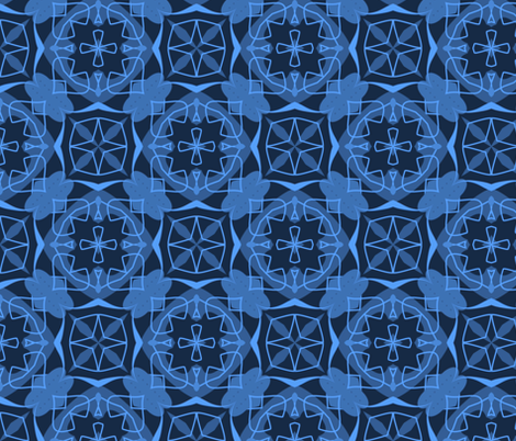 Blue Valentines and Stars fabric by gargoylesentry on Spoonflower - custom fabric