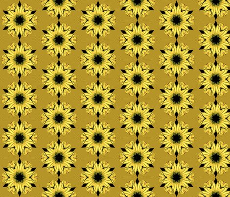 kaleidoscope_sunny yellow fabric by ominous-invasion on Spoonflower - custom fabric