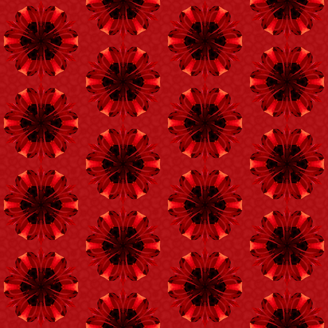 kaleidoscope_all red flowers fabric by ominous-invasion on Spoonflower - custom fabric