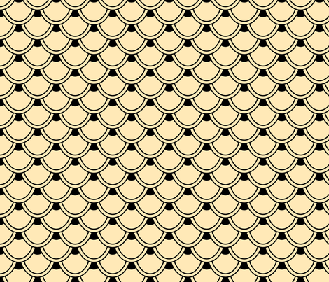 Art Deco Shapes 2 fabric by madmelody on Spoonflower - custom fabric