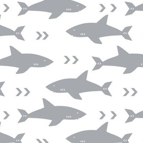 shark fabric grey fabric sharks boys nursery baby fabric shark decor shark week fabric sharks