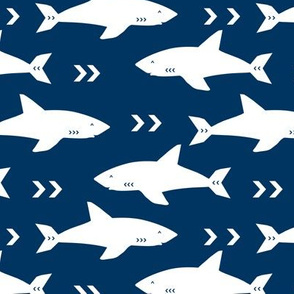 navy blue sharks shark fabric boys room fabric nursery baby decor nursery decor navy blue and white