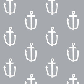 classic grey anchors nautical fabric ocean fabric anchors