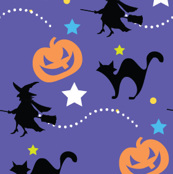 Spooky Cats & Witches