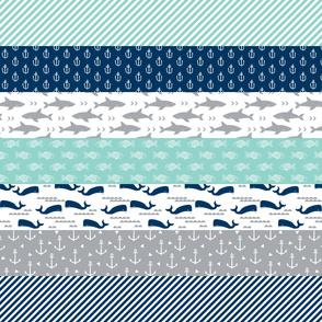 wholecloth cheater quilt crib sheet baby blanket kids patchwork kids nursery baby cute kids nautical baby blanket