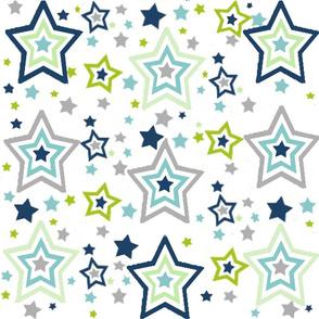 Navy Grey Green Star 5400