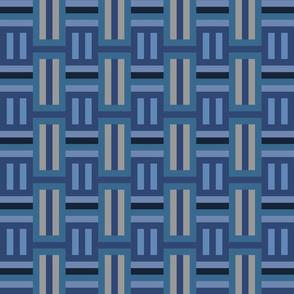 Boho Blue Geometric