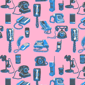 Phones Phones Phones Salmon & Blue