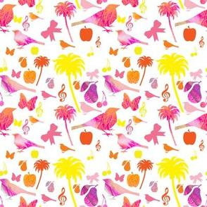Mischievous pink birds