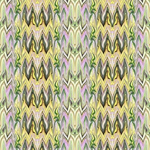 Tearful Ogre Bargello, Yellow, Green, Almond, Lavender, small