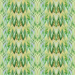Tearful Ogre Bargello, Pastel Yellow, Blue, Green, small