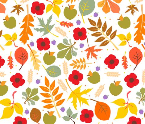 Autumn Leaves fabric by samossie on Spoonflower - custom fabric