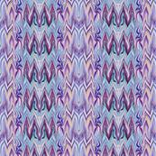 Tearful Ogre Bargello, Purple, Pink, Aqua and Lavender, Small