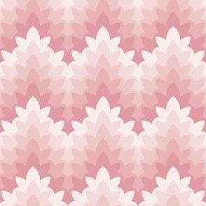 leafy zigzag : soft spring blush