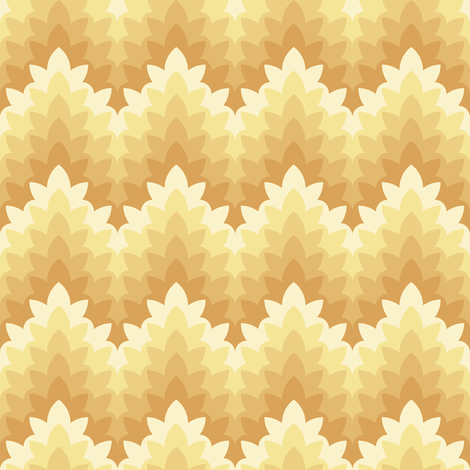 leafy zigzag : soft spring gold fabric by sef on Spoonflower - custom fabric