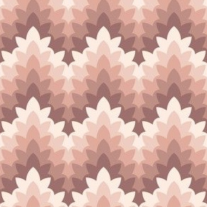 leafy zigzag : oolong pink russet