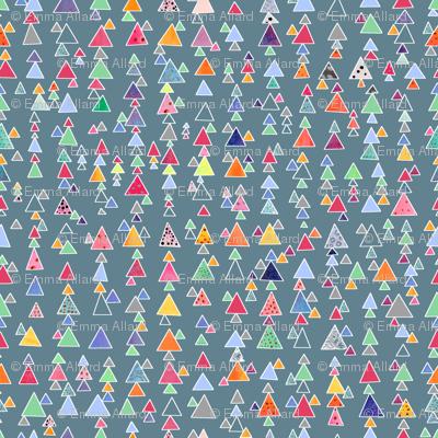 Little Triangles - steel blue