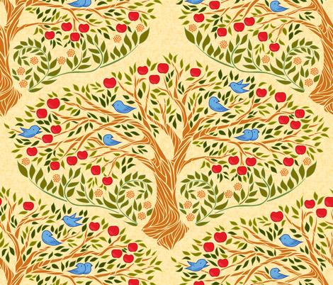 Apple Tree - Rubin fabric by ceciliamok on Spoonflower - custom fabric