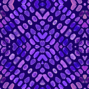 Abstract paint, Ultraviolet  Purple painted Tribal Abstract