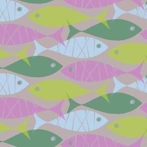 violet fish verde fish