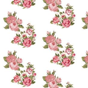 vintage floral pink blush