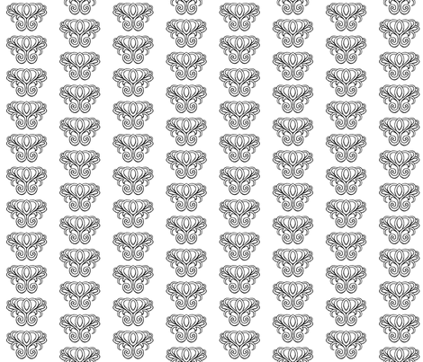 Coloring Book Damask 3 fabric by essieofwho on Spoonflower - custom fabric