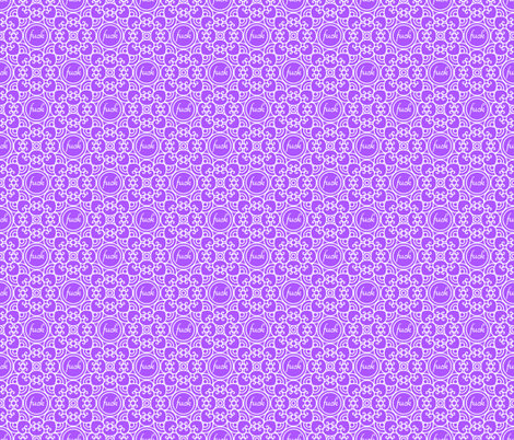Delicately Speaking Purple -Lg fabric by shala on Spoonflower - custom fabric