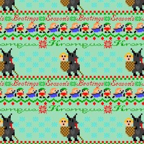 Krampus Season's Beatings ugly sweater