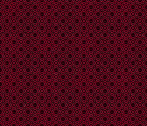 Delicately Speaking Red -Med fabric by shala on Spoonflower - custom fabric