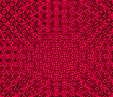 Delicately Speaking- Red Lg fabric by shala on Spoonflower - custom fabric