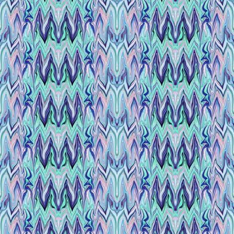 Tearful Ogre Bargello, Pastel Pink, Blue and Green,Small fabric by maryyx on Spoonflower - custom fabric