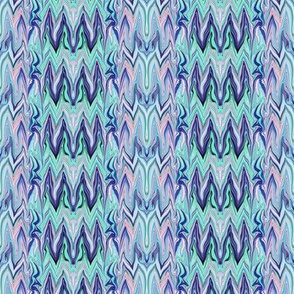Tearful Ogre Bargello, Pastel Pink, Blue and Green,Small